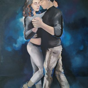 Kizomba Dancers / Original painting by Ivanka Elde
