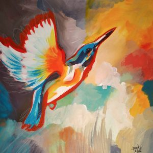 Kingfisher 1, original painting by Ivanka Elde