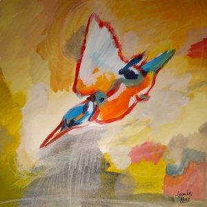 Kingfisher - Original painting by Ivanka Elde